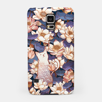 Thumbnail image of White cat and lotus Samsung Case, Live Heroes
