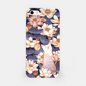 Thumbnail image of White cat and lotus iPhone Case, Live Heroes