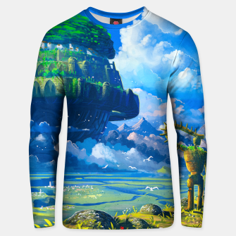 Thumbnail image of Castle in the sky Unisex sweater, Live Heroes