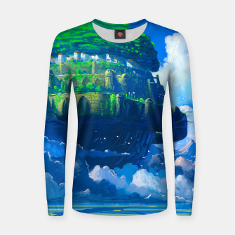 Thumbnail image of Castle in the sky Women sweater, Live Heroes