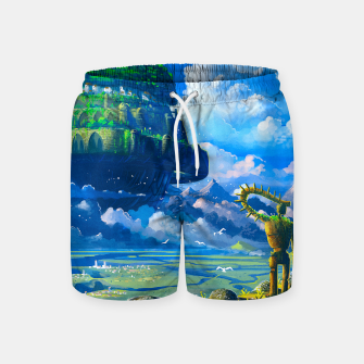 Thumbnail image of Castle in the sky Swim Shorts, Live Heroes