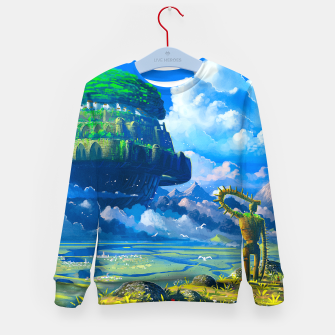 Thumbnail image of Castle in the sky Kid's sweater, Live Heroes