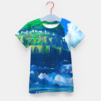 Thumbnail image of Castle in the sky Kid's t-shirt, Live Heroes