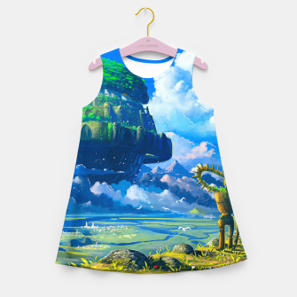 Thumbnail image of Castle in the sky Girl's summer dress, Live Heroes