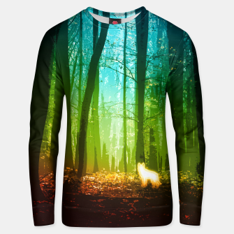 Thumbnail image of Wolf spirit forest Unisex sweater, Live Heroes