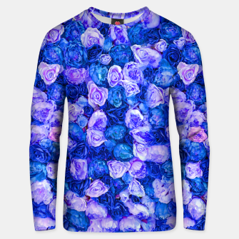 Thumbnail image of Neo blue roses Unisex sweater, Live Heroes