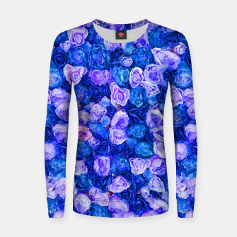Thumbnail image of Neo blue roses Women sweater, Live Heroes