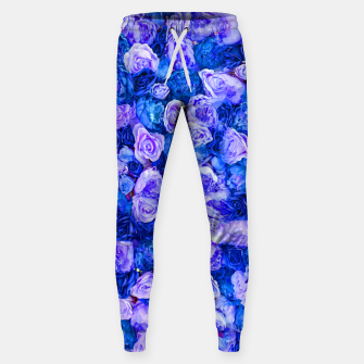 Thumbnail image of Neo blue roses Sweatpants, Live Heroes