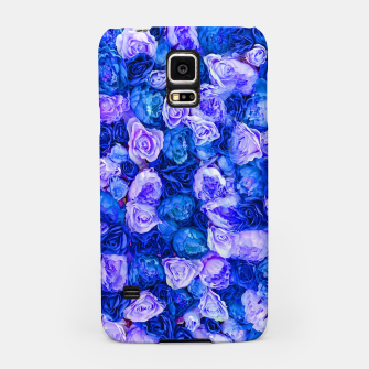 Thumbnail image of Neo blue roses Samsung Case, Live Heroes