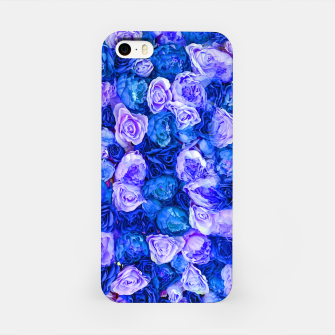 Thumbnail image of Neo blue roses iPhone Case, Live Heroes