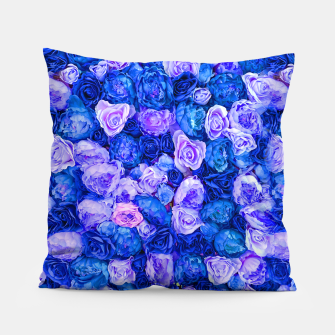 Thumbnail image of Neo blue roses Pillow, Live Heroes
