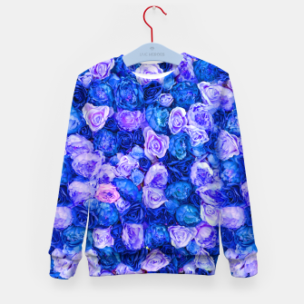 Thumbnail image of Neo blue roses Kid's sweater, Live Heroes