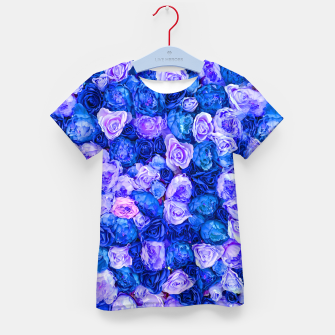 Thumbnail image of Neo blue roses Kid's t-shirt, Live Heroes