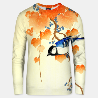 Thumbnail image of Great tit on paulownia branch Unisex sweater, Live Heroes
