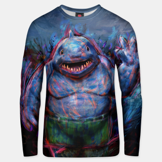 Thumbnail image of king shark suicide squad Unisex sweater, Live Heroes