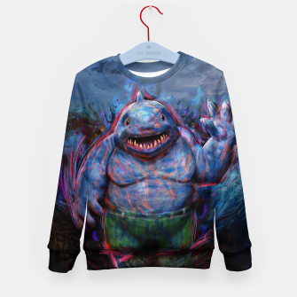 Thumbnail image of king shark suicide squad Kid's sweater, Live Heroes