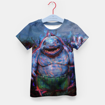 Thumbnail image of king shark suicide squad Kid's t-shirt, Live Heroes