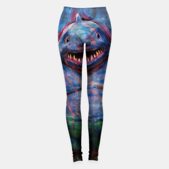 Thumbnail image of king shark suicide squad Leggings, Live Heroes