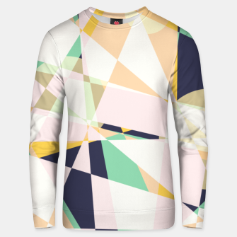 Thumbnail image of Broken moons, geometric outer space abstract illustration in soft colors Unisex sweater, Live Heroes