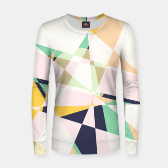 Thumbnail image of Broken moons, geometric outer space abstract illustration in soft colors Women sweater, Live Heroes