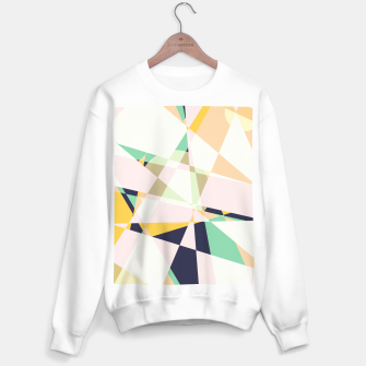 Thumbnail image of Broken moons, geometric outer space abstract illustration in soft colors Sweater regular, Live Heroes