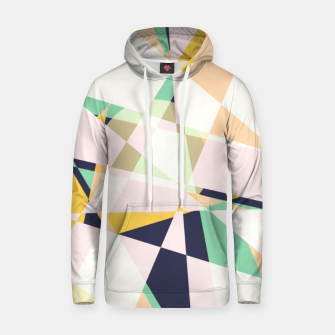 Thumbnail image of Broken moons, geometric outer space abstract illustration in soft colors Hoodie, Live Heroes