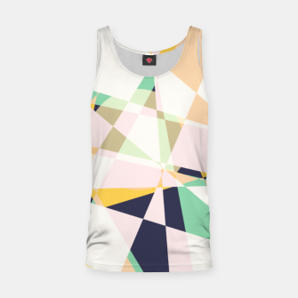 Thumbnail image of Broken moons, geometric outer space abstract illustration in soft colors Tank Top, Live Heroes
