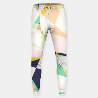 Thumbnail image of Broken moons, geometric outer space abstract illustration in soft colors Sweatpants, Live Heroes