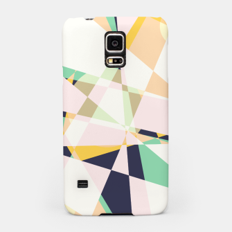 Thumbnail image of Broken moons, geometric outer space abstract illustration in soft colors Samsung Case, Live Heroes