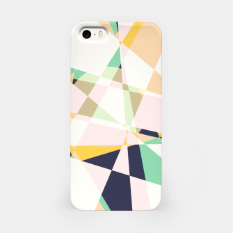 Thumbnail image of Broken moons, geometric outer space abstract illustration in soft colors iPhone Case, Live Heroes