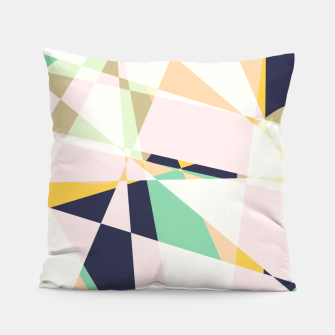 Thumbnail image of Broken moons, geometric outer space abstract illustration in soft colors Pillow, Live Heroes