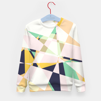 Thumbnail image of Broken moons, geometric outer space abstract illustration in soft colors Kid's sweater, Live Heroes