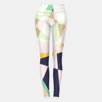 Thumbnail image of Broken moons, geometric outer space abstract illustration in soft colors Leggings, Live Heroes