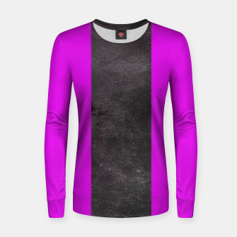 Thumbnail image of Purple and black stripes Women sweater, Live Heroes
