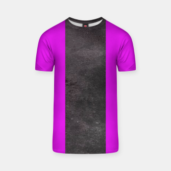 Thumbnail image of Purple and black stripes T-shirt, Live Heroes