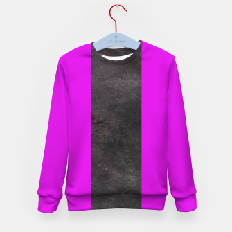 Thumbnail image of Purple and black stripes Kid's sweater, Live Heroes