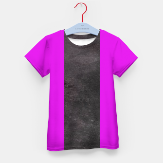 Thumbnail image of Purple and black stripes Kid's t-shirt, Live Heroes
