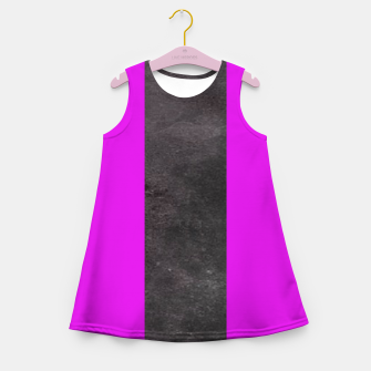 Thumbnail image of Purple and black stripes Girl's summer dress, Live Heroes