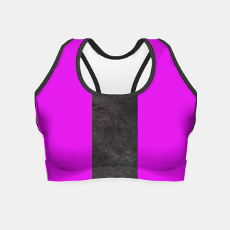 Thumbnail image of Purple and black stripes Crop Top, Live Heroes