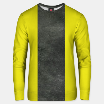 Thumbnail image of Yellow and black stripe Unisex sweater, Live Heroes