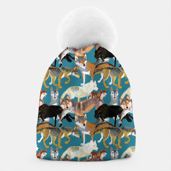 Miniaturka Wolves pattern teal color Gorro, Live Heroes