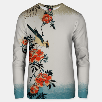 Thumbnail image of Oriole and wild rose Unisex sweater, Live Heroes