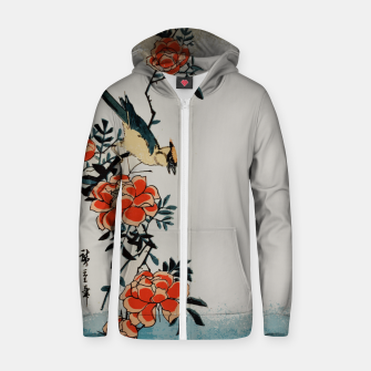 Thumbnail image of Oriole and wild rose Zip up hoodie, Live Heroes