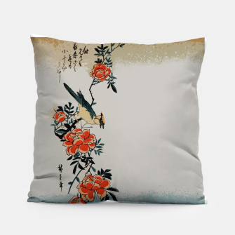 Thumbnail image of Oriole and wild rose Pillow, Live Heroes