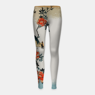 Thumbnail image of Oriole and wild rose Girl's leggings, Live Heroes