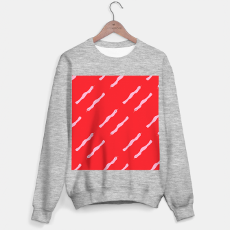 Thumbnail image of Pink snakes on red Sweater regular, Live Heroes