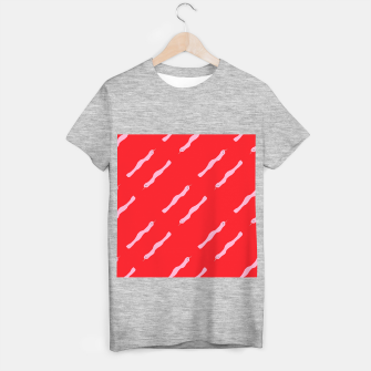 Thumbnail image of Pink snakes on red T-shirt regular, Live Heroes