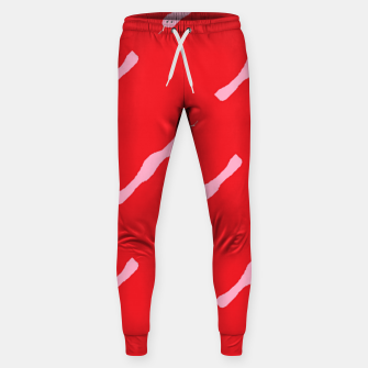 Thumbnail image of Pink snakes on red Sweatpants, Live Heroes