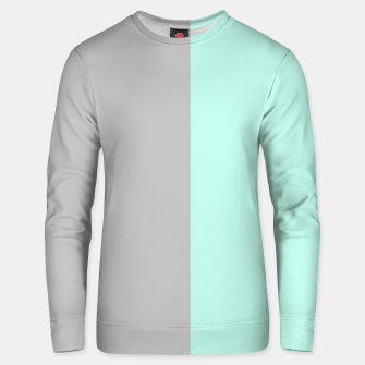 Thumbnail image of Gray and blue Unisex sweater, Live Heroes