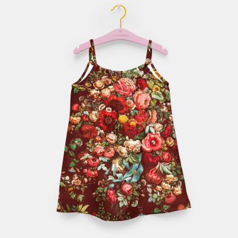 Miniatur Colorful floral Girl's dress, Live Heroes